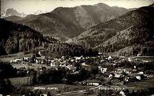 Grünau Almtal Oberösterreich s/w AK 1966 gelaufen Gesamtansicht Panorama Berge