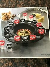 Crystal~ Clear~Game~Night~Roulette Drinking~Game~Shot~Glasse s~19~Piece~ Set New