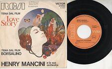 HENRY MANCINI Colonna sonora OST disco 45 giri MADE in ITALY Tema BORSALINO