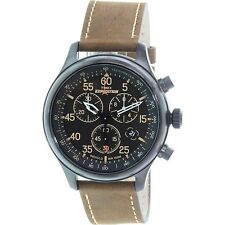 Timex Men's T49905 Brown Leather Quartz Dress Watch
