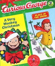 Curious George Christmas Snow Holiday 2-Pack, new DVDs PBS Winter children 3 hrs