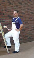 Arbeitslatzhose Malerhose Latzhose Lackierer Hose Arbeitshose weiß Gr. 64 (442)