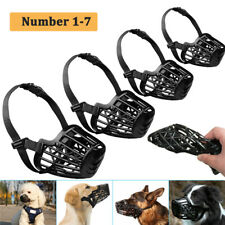 More details for pet dog basket muzzle mouth cover mesh cage nobarking anti bite biting chewing