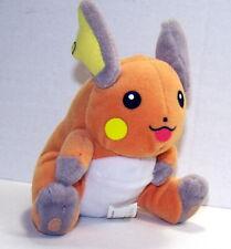 """Pokemon 1998 Original RAICHU 6"""" Plush Bean Bag 1998 Creatures Game Freak Hasbro"""