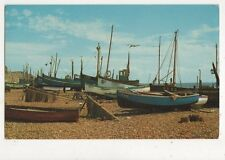 The Harbour Hastings Old Postcard 574a