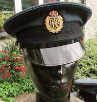 53xs RAF ROYAL AIR FORCE PEAKED CAP/HAT military Pilot Visor Cadets Fancy Dress