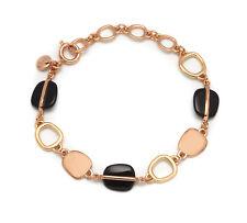 Lola Rose Bassa Link Bracelet in Black Agate