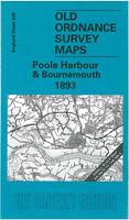 OLD ORDNANCE SURVEY MAP POOLE HARBOUR BOURNEMOUTH 1893 MUDEFORD WIMBORNE MINSTER