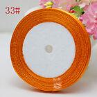 "NEW Free Shipping wedding festival 25 Yards 3/8""10mm Craft Satin Ribbon Orange"