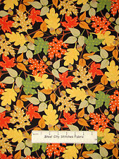 Autumn Leaves Acorn Leaf Toss Cotton Fabric Benartex Fall Festival #06487 YARD