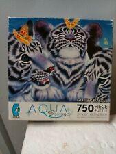 jigsaw puzzle 750 pc AQUA SHIMMER glitter Family atric animals Kentara Nishino