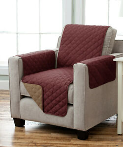 Home Fashion Designs Reversible Furniture Protector Armchair Burgundy/Taupe