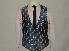 SONNPY men's Silk & Polyester blend waistcoat dress Vest size Medium