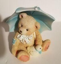 """Teddy Bear Figurine -Alan Priscilla Hillman appx. 3.5""""T x 2""""W x 2""""L Vg April"""