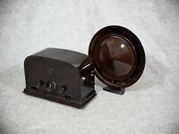 """1932: Restaurierter Telefunken 33W & Philips """"Bratpfanne"""" - Bakelit, funktionsf."""