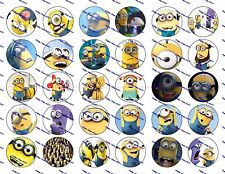 "30 Precut 1"" Minions Bottle cap Images Set 3"