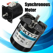 68KTYZ AC220V 28W 2.5r/min Speed Reducing Permanent Magnet Synchronou Gear Motor