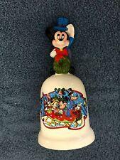 "Walt Disney / Schmid ""Warm Winter Ride"" Holiday Bell W/Mickey Mouse Ltd Edt-Used"
