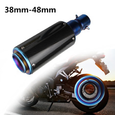 Carbon Fiber Stainless Motorcycle Exhaust Muffler Pipe Kit 38-48mm Silencer Part