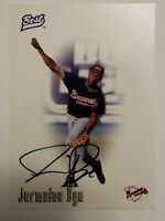 1996 Jermaine Dye RC Best Autograph Card Auto Signed Certified Card Braves A's