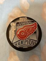 2002 DETROIT RED WINGS WESTERN CONFERENCE STANLEY CUP CHAMPIONS NHL HOCKEY PUCK