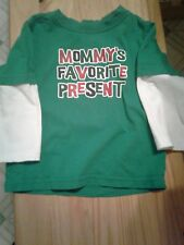 """Christmas Infant Boys 24 Months T-shirt, """"Mommy's Favorite Present """""""