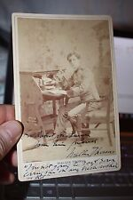 Autographed Cabinet photo early actor Walter Thomas by Falk NYC 1892-1900