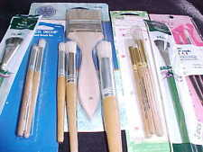 15 Assorted Stencil Brushes Includes 3 Painters Select Round Brushes + 7 Specali