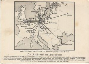 Weltanstalt Reichspost Berlin Auslandsdrahtverbindungen 1928 ngl D0458
