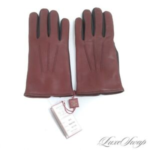 NWT Dents England Heritage Black Chestnut Leather Cashmere Lined Gloves 8.5 #2