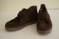Cienta Boy's Brown Leather Suede Chukka Boots Sneaker Spain $100 28 10 US
