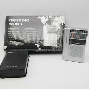 Grundig Mini 100 PE World Radio SW LW AM/FM W/ New batteries