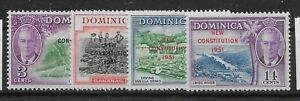 DOMINICA SG135/8 1951 NEW CONSTITUTION SET MTD MINT
