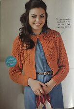 Summer Breeze - Lacework Cardigan Knitting Pattern By Rowan. Bust 32 - 50 Inches