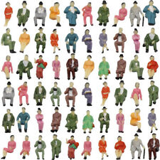 P87S 60pcs all Seated 1:87 Painted Figures Passenger HO