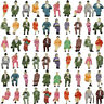 P87S 60pcs All Seated 1:87 Painted Figures Passenger HO Scale Sitting People