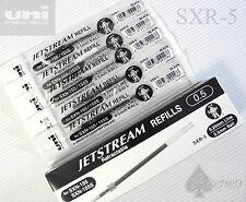 5pcs Uni-Ball Jetstream SXR-5 roller refills for SXN-155S & SXN-155 BLACK ink
