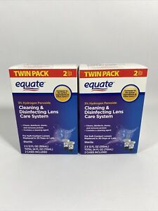 Equate 3% Hydrogen Peroxide Cleaning & Disinfecting Lens 12 oz 4PK Exp 2023+