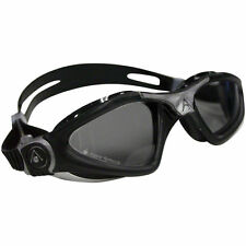 AQUA SPHERE KAYENNE SWIM GOGGLES SMOKE LENS BLACK W/ SILVER ACCENT REGULAR ADULT