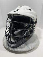 Cascade Pro7 Lacrosse Helmet~ White W/Black Mask + Chin Strap Adult Osfm