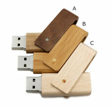 Custom company logo rotating degree wood USB 2.0 Flash Memory stick Pen drive