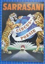 Sarrasani Circus Poesie Programm Illustrierte  B19229