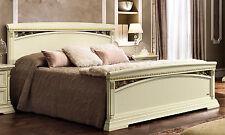 Lit double d'Chambre à coucher couleur beige placage classique meubles de style