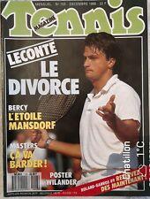 TENNIS MAGAZINE N° 153 décembre 88 Leconte Masters / Bercy