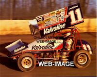 STEVE KINSER VALVOLINE OIL SP SPRINT CAR WORLD OF OUTLAWS AUTO RACING 8X10 PHOTO