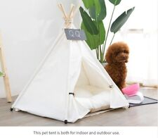 Pet Tent House Cat Bed Portable Teepee With Thick Cushion