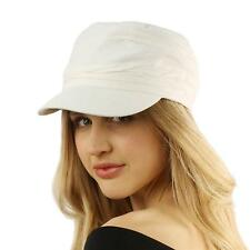 Unisex Summer Cotton Ruched Jersey Crinkle Bunch Cadet Castro GI Cap Hat White