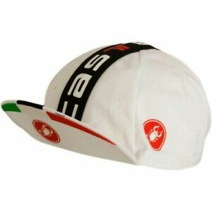 Castelli Men's Prologo Cycling Road Bike Hat Cap - White/Black