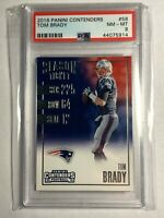 2016 Panini Contenders - Tom Brady #58 Card PSA 8 NFL Football Patriots