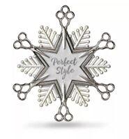 Hallmark Keepsake Hairdresser Sheers Snowflake Christmas Ornament Holiday NIB